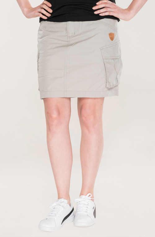 Bawełniana spódnica o krótkiej długości z kieszeniami