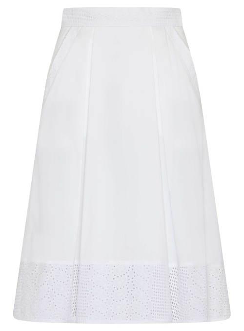 Bawełniana spódnica o linii A z magazynami