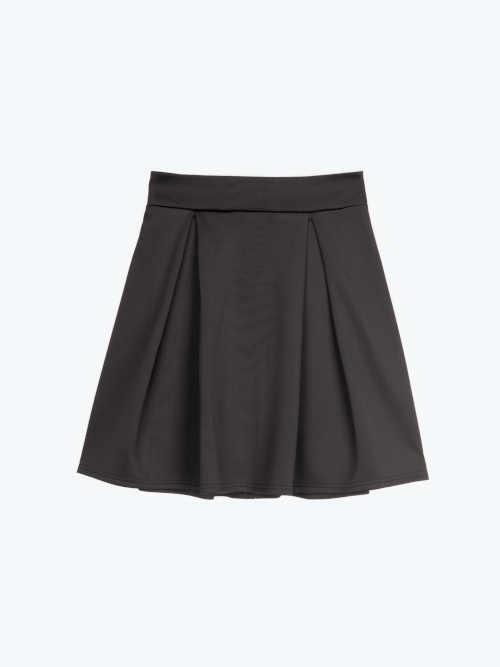 Czarna mini spódniczka z zamkiem
