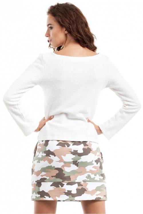 Damska spódnica z wojskowym nadrukiem
