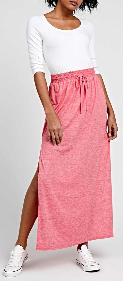 Długa różowa spódnica sportowa dla kobiet