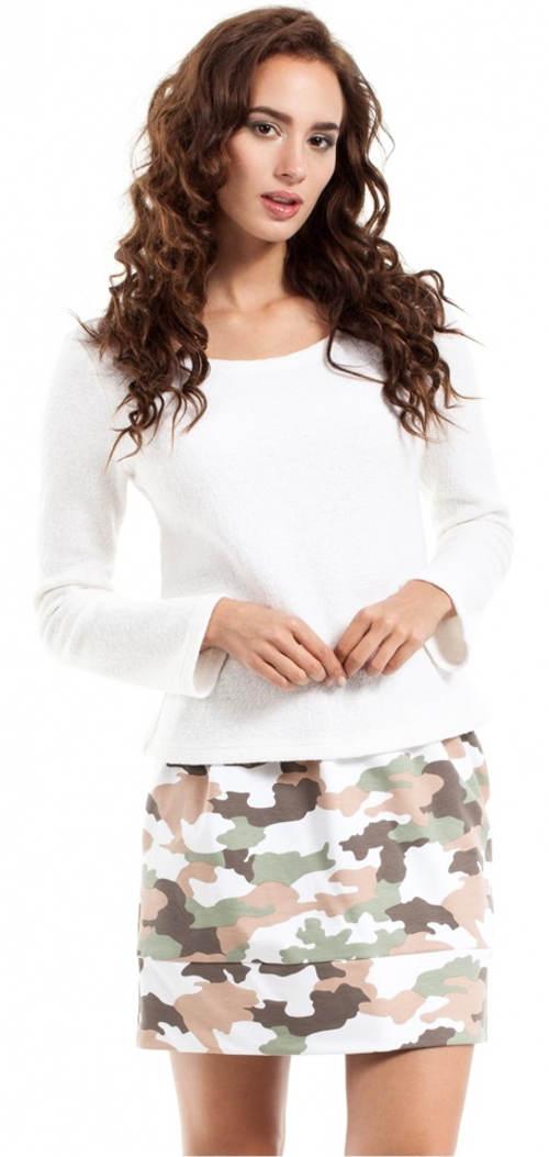 Krótka damska spódnica wojskowa