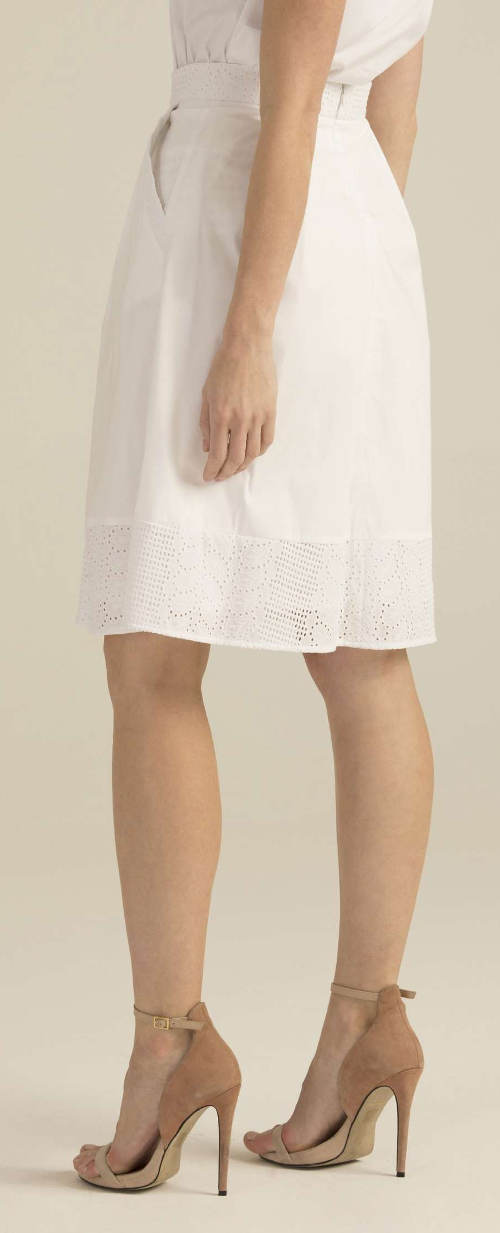 Luksusowa biała spódnica