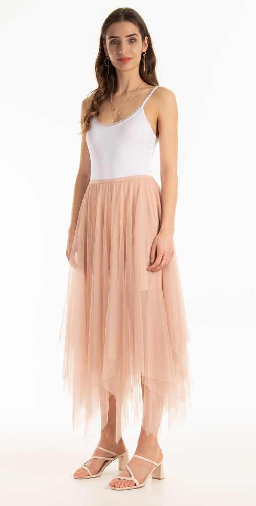 Różowa spódnica tiulowa damska