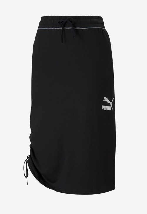 Spódnica Puma o długości midi z elastyczną talią i efektywnym paskiem w talii