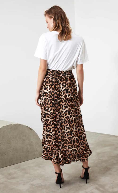 Spódnica w nowoczesny wzór z elastyczną talią