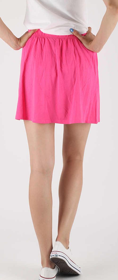 Tania różowa bawełniana spódnica damska na lato