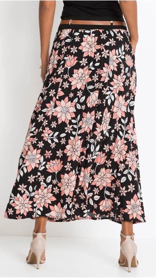 Zwiewna letnia spódnica w kwiaty