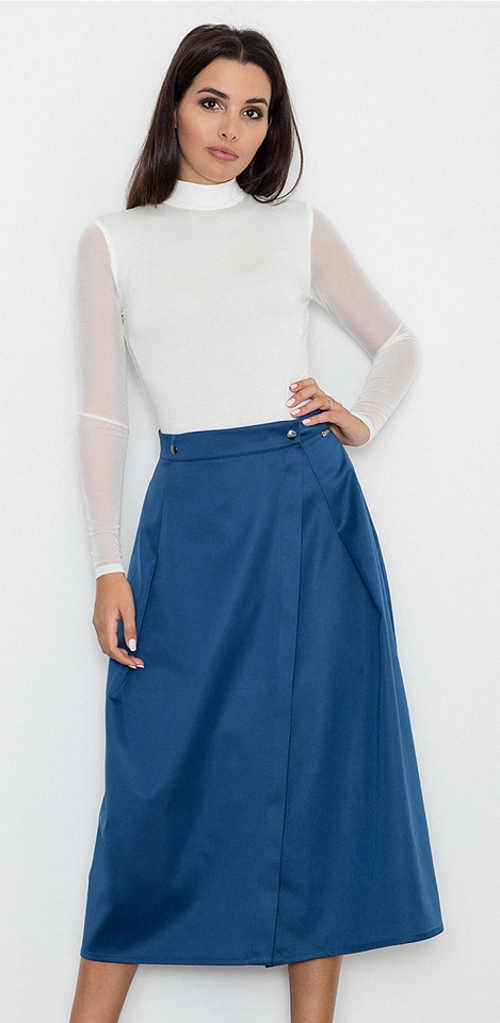Damska spódnica o długości midi o całorocznym zastosowaniu w eleganckiej stylizacji