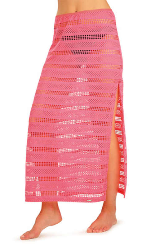 Damska spódnica plażowa z długimi rozcięciami po bokach