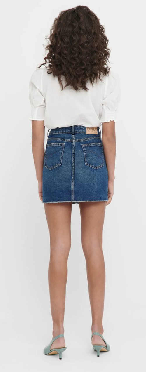 Krótka spódnica damska w kolorze niebieskiego jeansu