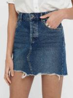 Nowoczesna granatowa jeansowa spódnica mini Only