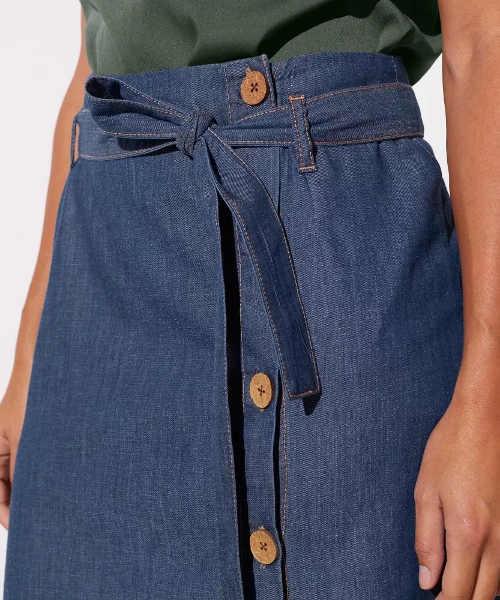 Spódnica karabinowa z pasem wiązanym