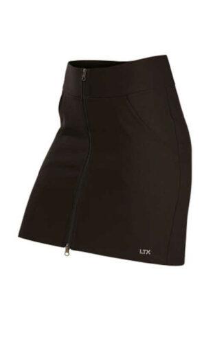 Sportowa krótka spódniczka z kieszeniami z przodu z dwukierunkowym zamkiem błyskawicznym