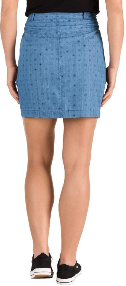 Krótka niebieska sportowa letnia spódniczka