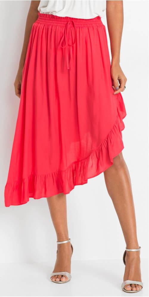 Asymetryczna letnia spódnica