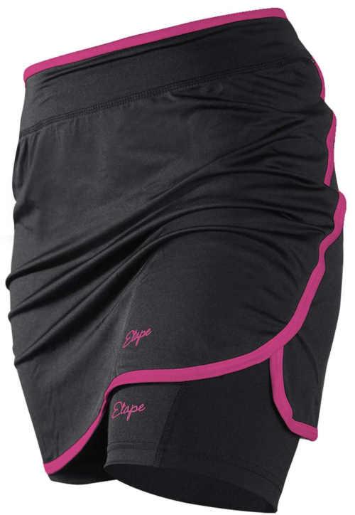 Czarno-różowa spódniczka kolarska