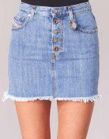Damska niebieska jeansowa mini spódniczka Diesel