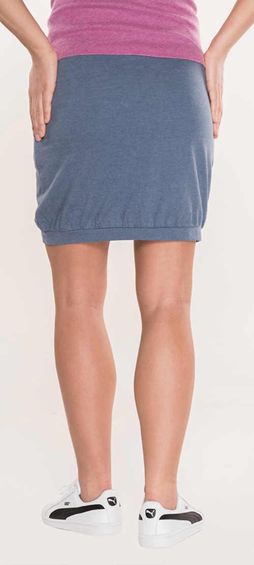Niebiesko-szara krótka letnia spódniczka dresowa