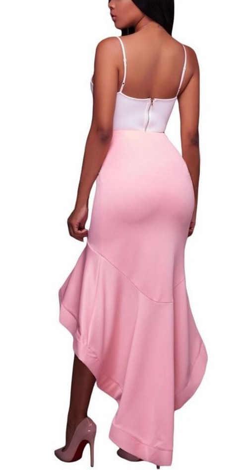 Nowoczesna różowa spódnica balowa