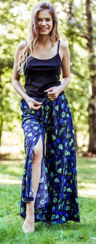 Oddychająca spódnica z szerokimi nogawkami