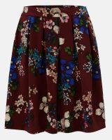 Plisowana spódnica w kształcie litery A w kwiaty