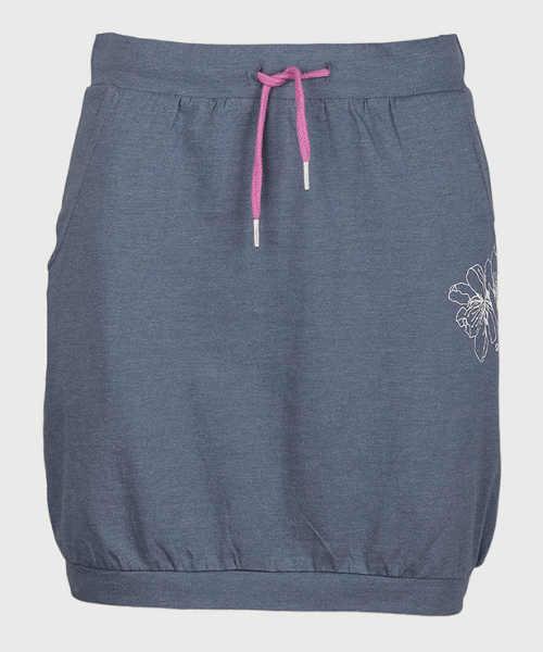 Sportowa letnia spódnica z paskiem ściągającym w talii