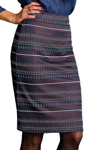 Żakardowa spódnica etno