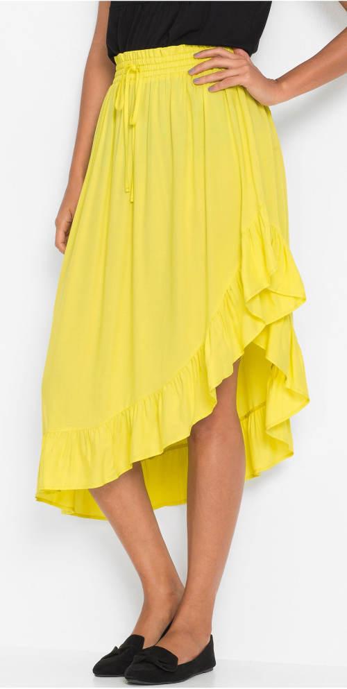 Żółta letnia spódnica