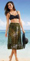 Zwiewna spódnica plażowa z motywem zwierzęcym