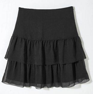 Czarna warstwowa spódnica z woalu