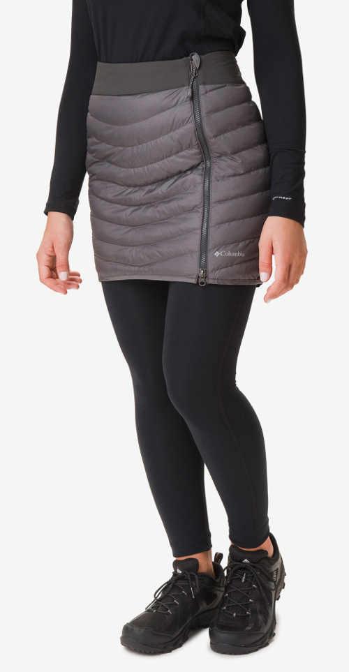 Damska zimowa pikowana spódnica w kolorze szarym z wodoodpornego materiału