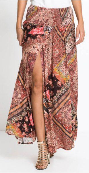 Letnia spódnica maxi w stylu wrap look