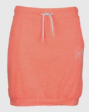 Pomarańczowa bawełniana spódnica sportowa z pasem ściągającym